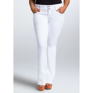Torrid White Flare High Rise New Jeans Casual
